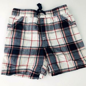 Baby Boys Cotton Plaid Shorts 6-9 Months
